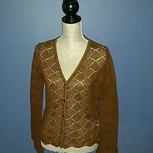 women's mohair blend knit cardigan